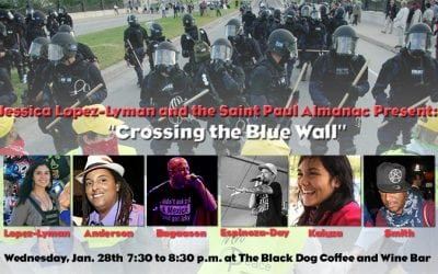 """January 28th 2015: Jessica Lopez Lyman presents """"Crossing the Blue Wall"""" at the Lowertown Reading Jam"""