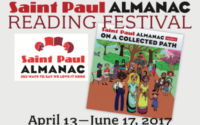 Saint Paul Almanac Literary Festival – April 13 through June 17, 2017