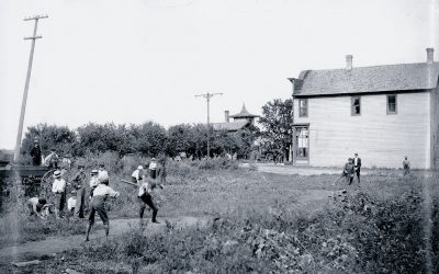 Baseball on Griggs Street by Gloria Levin