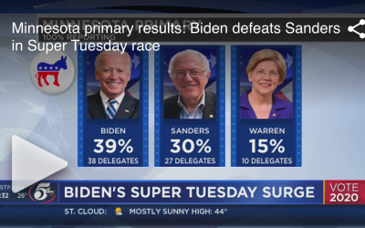 Minnesota primary results: Biden defeats Sanders in Super Tuesday race