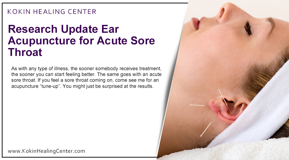 Ear Acupuncture for Acute Sore Throat