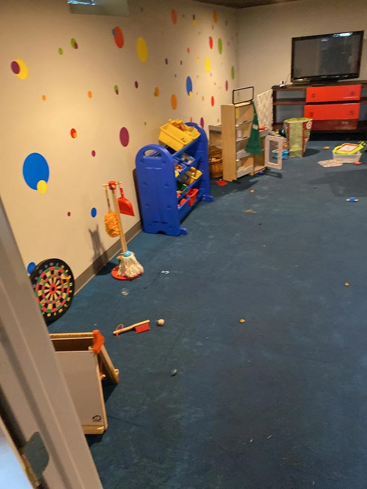 mold in bedford basement play area