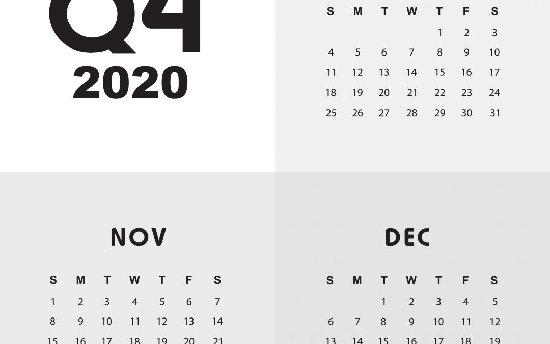 2020 Q4 tax calendar: Key deadlines for businesses and other employers