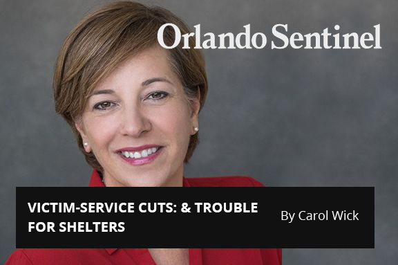 Central Florida 100:  VICTIM-SERVICE CUTS: & TROUBLE FOR SHELTERS
