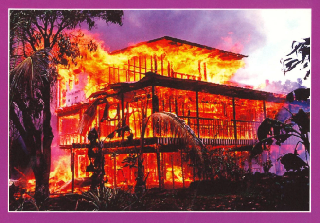 Home burning down