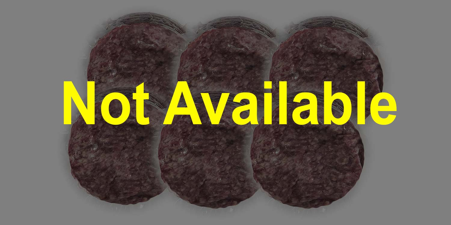 beef burger patties out of stock
