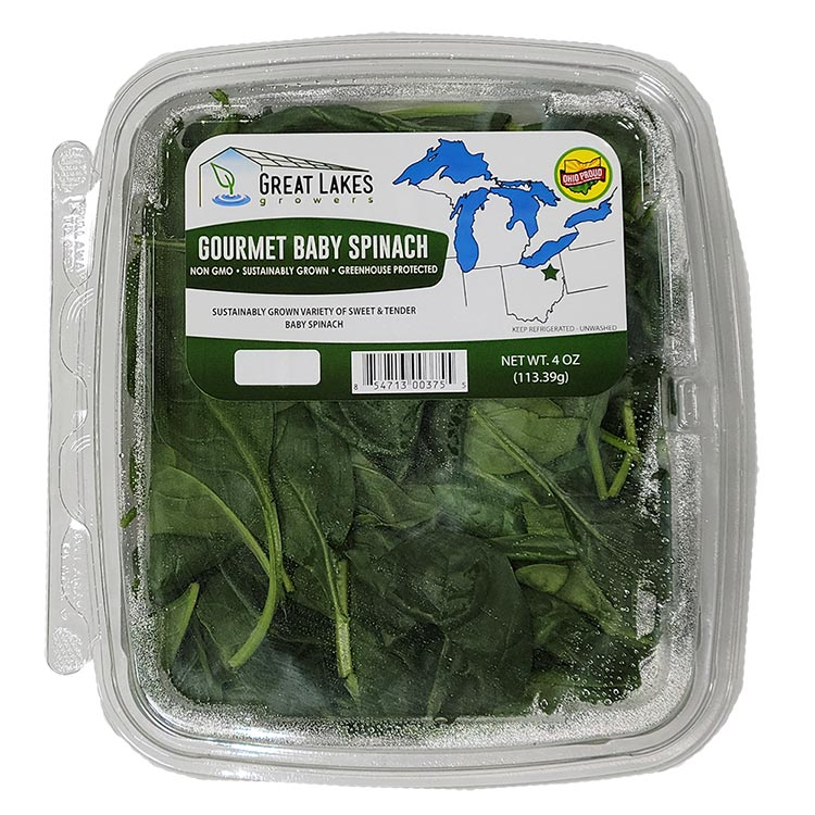 Gourmet Baby Spinach by Great Lakes Growers