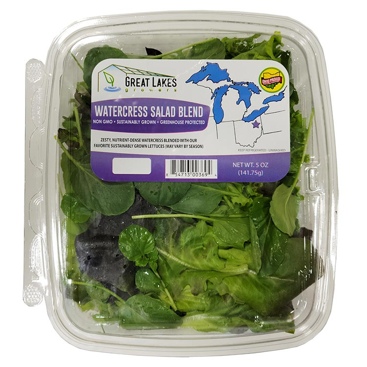 watercress salad blend by Great Lakes Growers