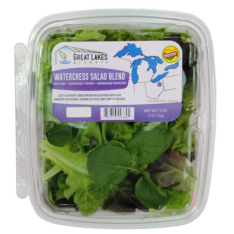 NEW watercress salad blend by Great Lakes Growers