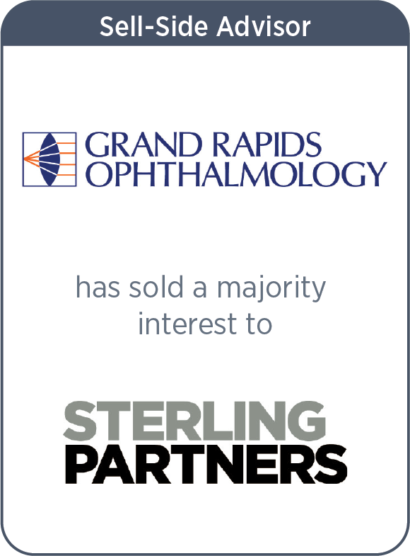 Grand Rapids Ophthalmology has partnered with Sterling Partners