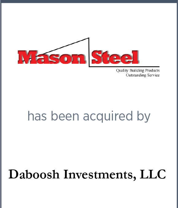 Mason Structural Steel has been acquired by Daboosh Investments