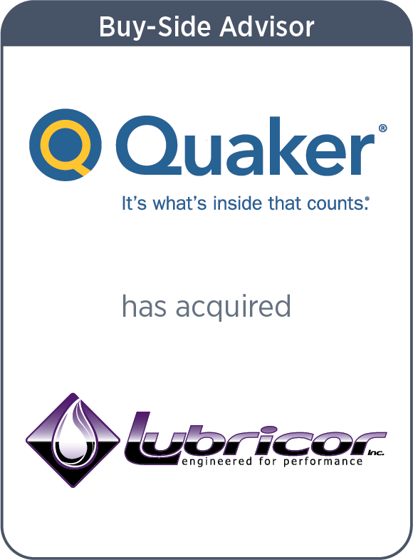 Quaker Chemical has acquired Lubricor