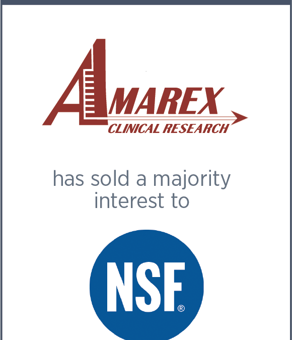 Amarex Clinical Research has Sold a Majority Interest to NSF International