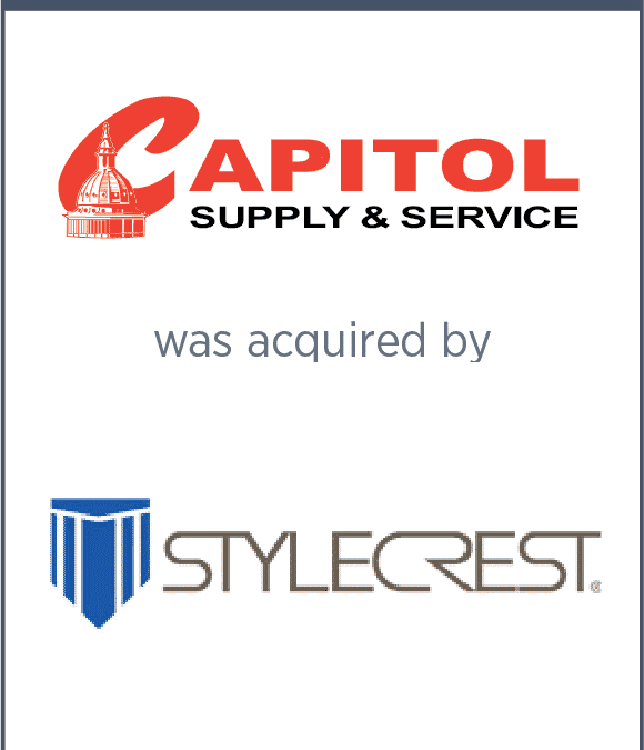 Capitol Supply and Service was acquired by Style Crest, Inc.