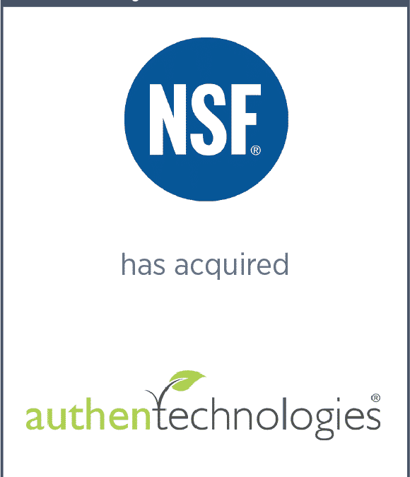 NSF Has Acquired AuthenTechnologies