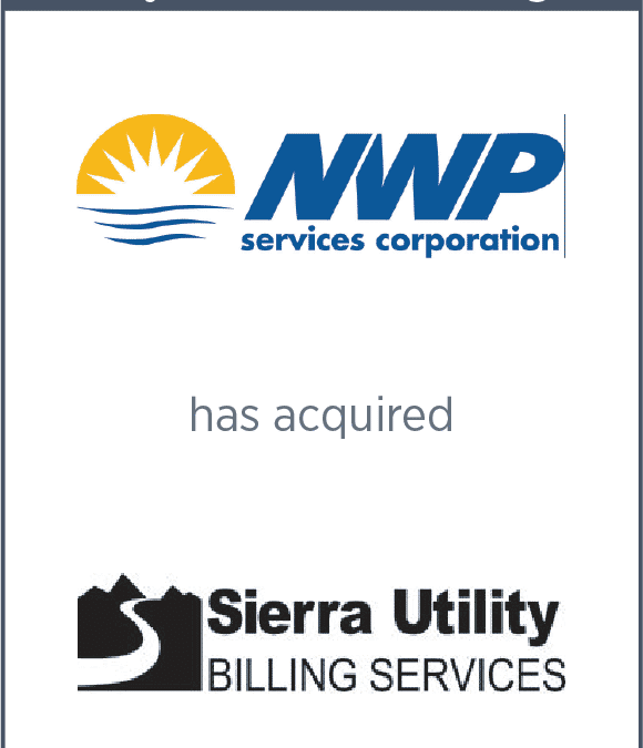 NWP Has Acquired Sierra Utility Billing Services