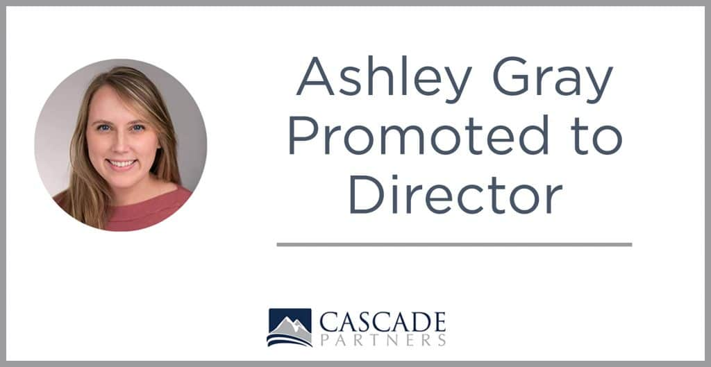 Ashley gray promoted to director