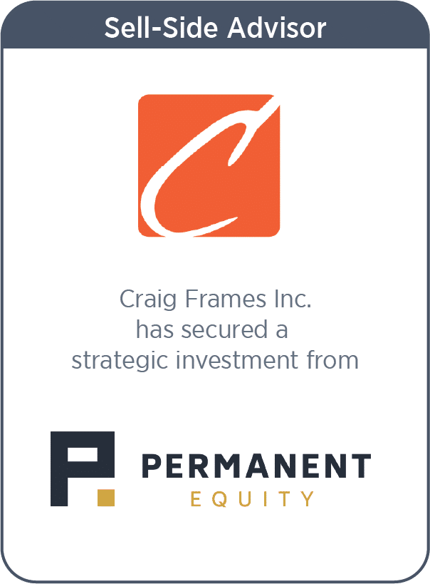 Craig frames has secured a strategic investment from
