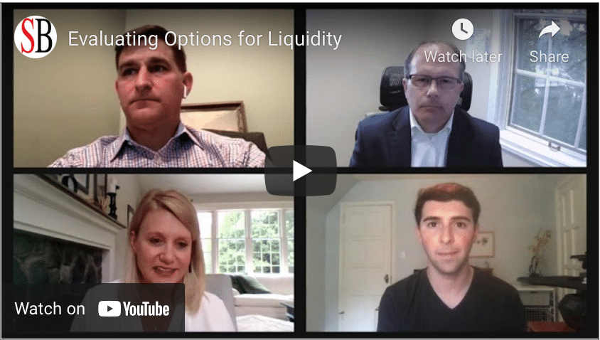 Evaluating Options For Liquidity