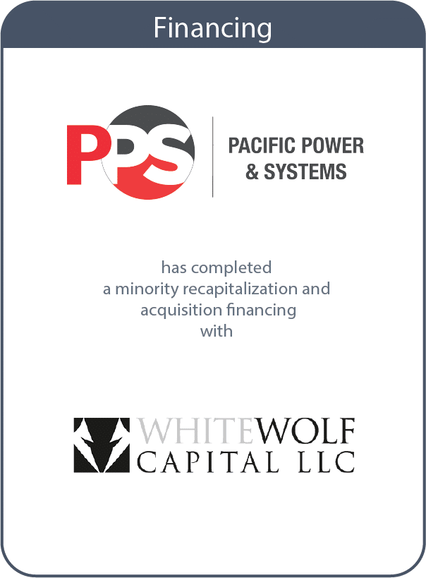 pps and white wolf capital transaction